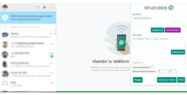 ارسال انبوه پیام در واتساپ با WhatsWeb