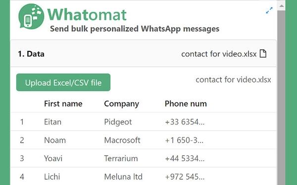 ارسال پیام نامحدود در واتساپ با Whatomat