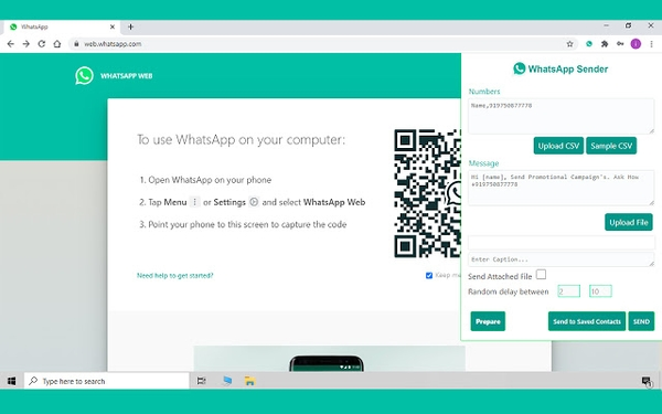 WhatsApp Sender برای ارسال انبوه در واتساپ