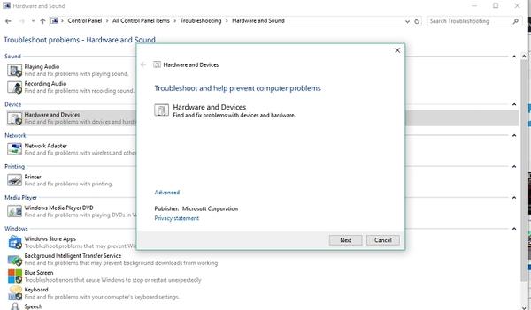 استفاده از Troubleshooter ویندوز برای مشکل ویندوز هلو