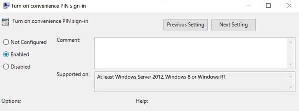 ویرایش Group Policy برای حل مشکل ارور windows hello isn't available on this device