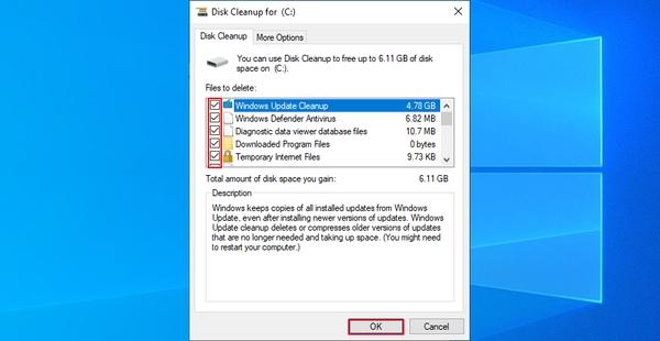 افزایش فضای ذخیره سازی برای رفع ارور کد 0x80070057 در نصب ویندوز