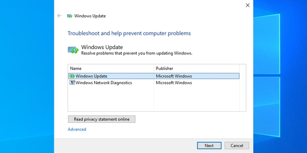 اجرای Windows Update Diagnostic