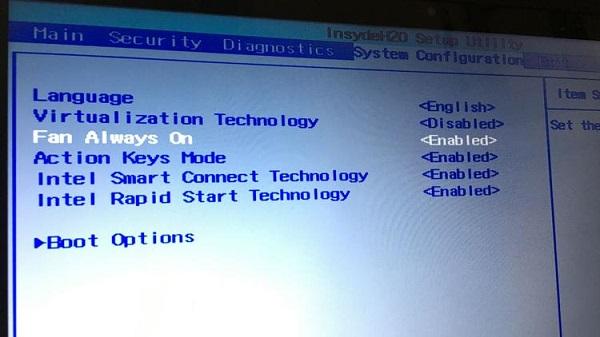 تنظیم سرعت فن لپ تاپ