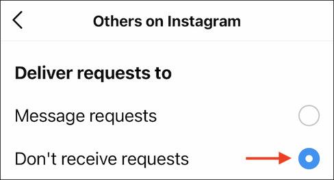 نحوه بستن اعلان درخواست دوستی در اینستاگرام