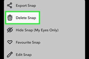 آموزش 4 روش حذف استوری و اسنپ از اسنپ چت