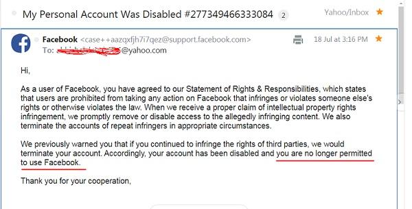 مشکل Your account has been disabled