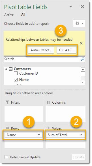 ایجاد ارتباط بین چند یا دو جدول در اکسل