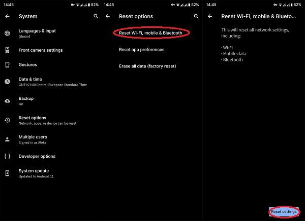 حل مشکل Mobile network not available
