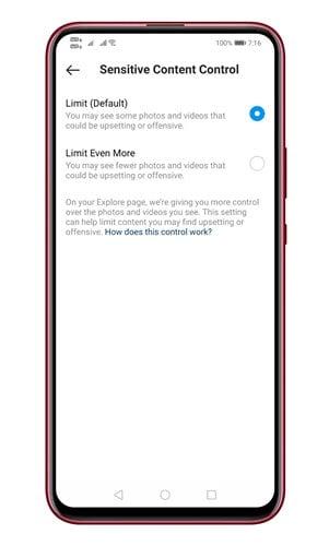 جلوگیری از نمایش پست های حساس در اکسپلورر اینستاگرام