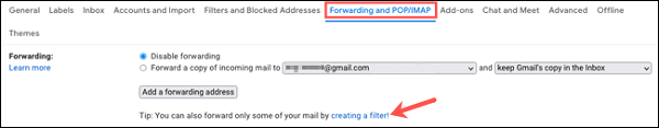 فوروارد اتوماتیک ایمیل به ایمیل دیگر