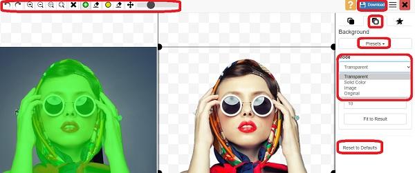 تغییر بک گراند عکس آنلاین